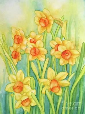 Painting - Daffodils In Yellow by Inese Poga
