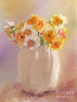 Fashion Paintings Rights Managed Images - Daffodils Royalty-Free Image by Susan  Lipschutz