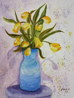 Daffodils Painting - Daffs by Jean Billsdon