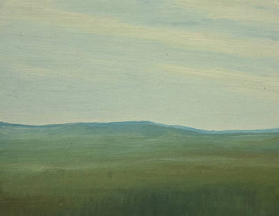 Painting - Dagrar Over Salenfjallen- Shifting Daylight Over Distant Horizon 5 Of 10_0029 91x61 Cm by Marica Ohlsson