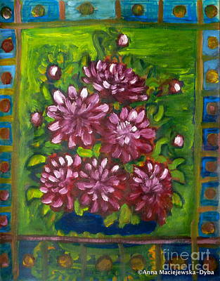 Painting - Dahlias 2 by Anna Folkartanna Maciejewska-Dyba