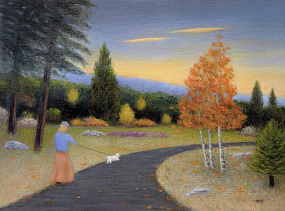 Painting - Daily Walk by Gordon Beck