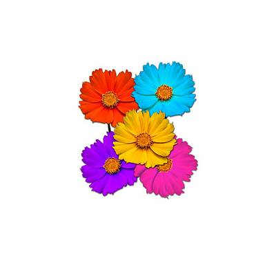 Digital Art - Daisy Pop by John Haldane