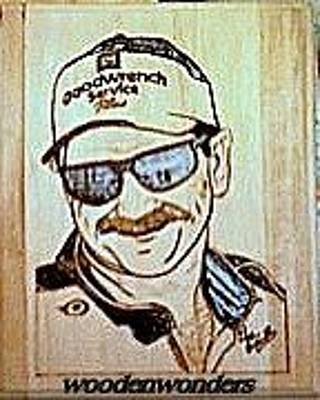 Plaque Pyrography - Dale Earnhardt Sr. by Timothy Wilkerson