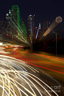 Dallas Commute - Abstract Art Print