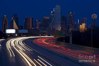 Dallas Commute Art Print