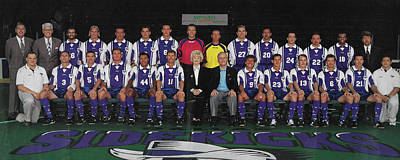 Mixed Media - 1998 Dallas Sidekicks Professional Indoor Soccer Team Champions In The P.s.a.,league. by Nicholas Nixo