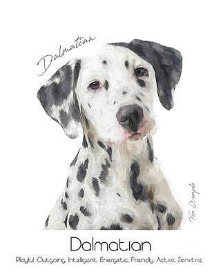 Digital Art - Dalmatian Poster by Tim Wemple