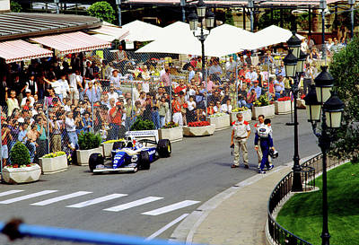 Photograph - Damon Hill's Williams At Monaco by John Bowers