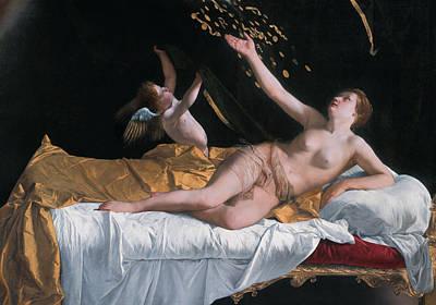 Painting - Danae by Orazio Gentileschi