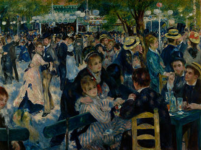 Moulin Painting - Dance At Le Moulin De La Galette  by Auguste Renoir