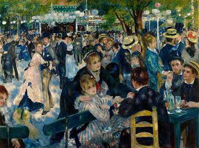 Ballroom Painting - Dance At Le Moulin De La Galette by Pierre-Auguste Renoir