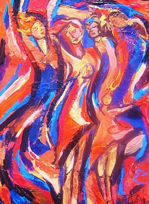 Art Print featuring the painting Dance by Dawn Fisher