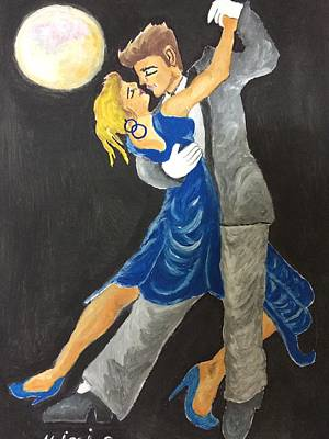 Painting - Dance Me To The Moonlight by Mimi Eskenazi