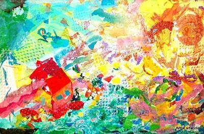 Painting - Dance Of The Sun Spirits by Judith Kerrigan Ribbens