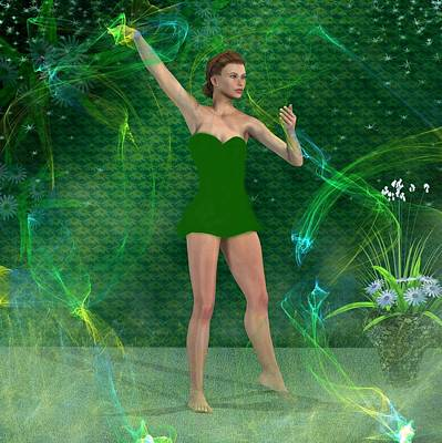 Dancer Mixed Media - Dance Steps by Nancy Pauling