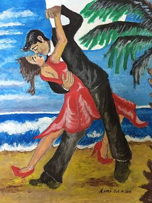 Painting - Dance With Me Make Me Sway by Mimi Eskenazi