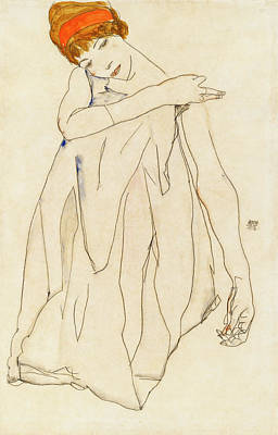 Painting -  Dancer  by Egon Schiele