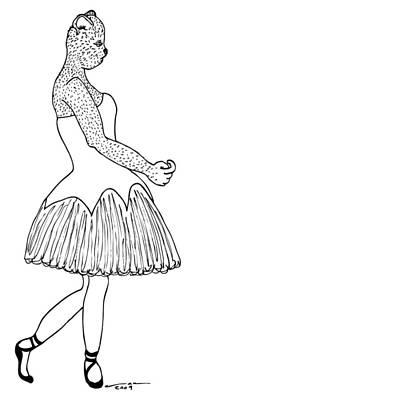 Dancer Art Print by Karl Addison