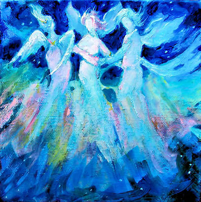 Painting - Dancing Angels by Diane Ursin