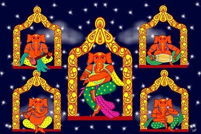 Nata Ganapati Art Print by Pratyasha Nithin