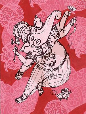 Dancing Ganesha Art Print