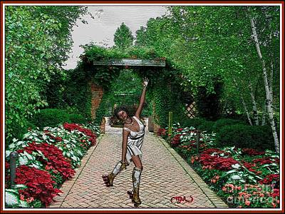 Statue Portrait Digital Art - Dancing Girl 702 by Pemaro