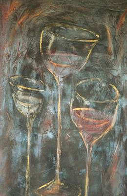 Painting - Dancing Glasses by Chuck Gebhardt