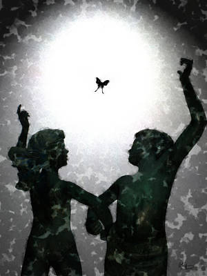 Digital Art - Dancing Silhouettes by Holly Ethan
