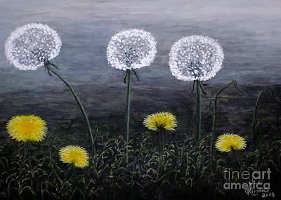 Dandelion Family Art Print