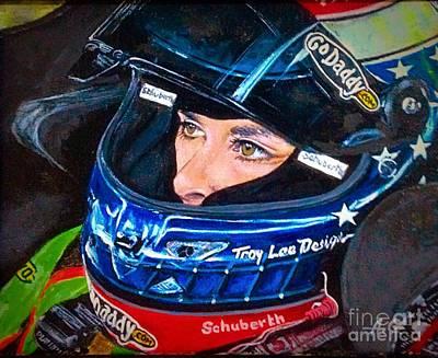 Danica Patrick Painting - Danica Patrick by Alexander Gatsaniouk