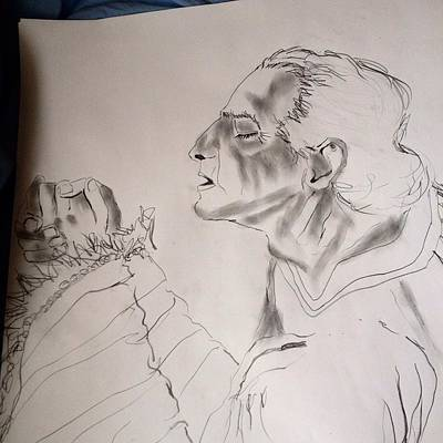 Drawing - Daniel Praying by Love Art Wonders By God