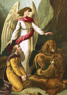 Book Of Daniel Painting - Daniel With The Lions by English School