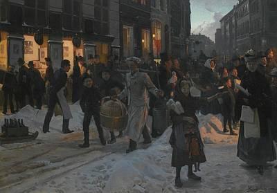 Christmas Time Painting - Danish Christmas Time by Erik Henningsen