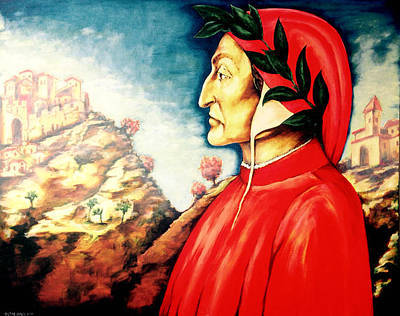 Painting - Dante by Victor Minca