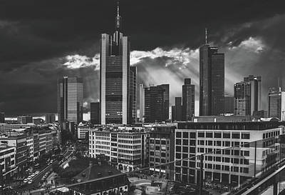 Black Is Beautiful Wall Art - Photograph - Dark Clouds Over Frankfurt by Pixabay
