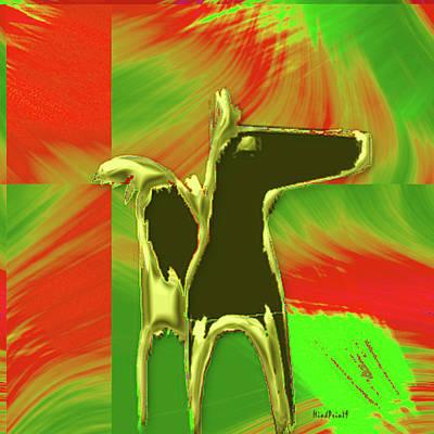 Digital Art - Dark Horse by Asok Mukhopadhyay