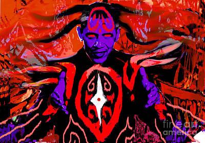 Dark Obamatar Art Print by Andrew Kaupe