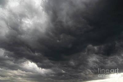 Leaden Sky Photograph - Dark Rainy Clouds by Michal Boubin