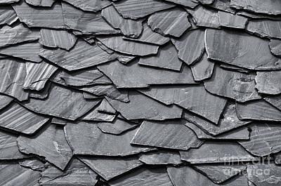 Dark Schist Blades Art Print