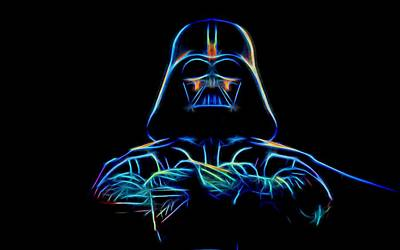 Digital Art - Darth Vader by Aaron Berg