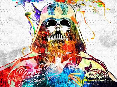 Science Fiction Mixed Media - Darth Vader Grunge by Daniel Janda