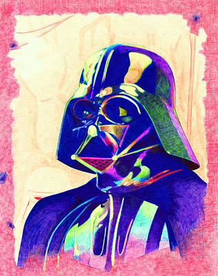 Darth Vader Art Print by Kyle Willis