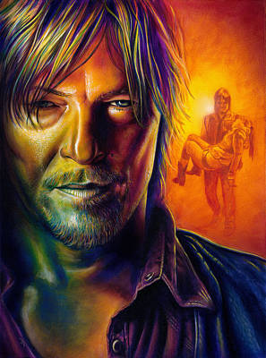 Norman Painting - Daryl Dixon by Scott Spillman