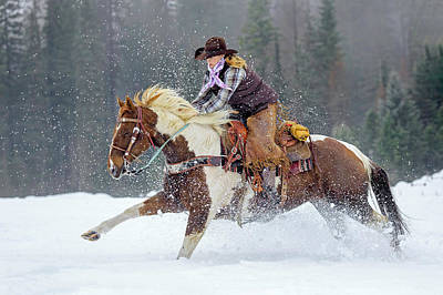 Photograph - Dashing Through The Snow by Jack Bell