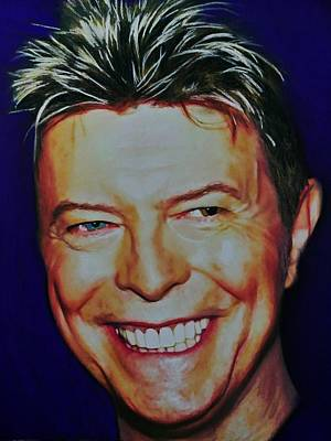 Painting - David Bowie 2 by Mandy Thomas