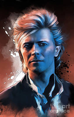David Bowie Painting - David Bowie by Melanie D