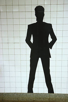 Photograph - David Bowie N Y C Subway Tribute # 5 by Allen Beatty