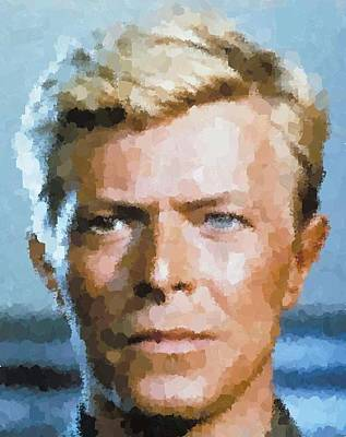 Painting - David Bowie by Samuel Majcen