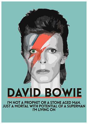 David Bowie Art Print by Semih Yurdabak